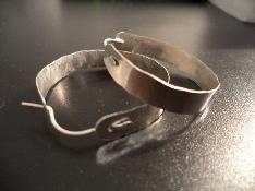 Breite Creolen aus Silber